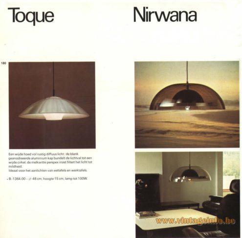 Raak Pendant Lights 'Toque' B-1364 and 'Nirwana'