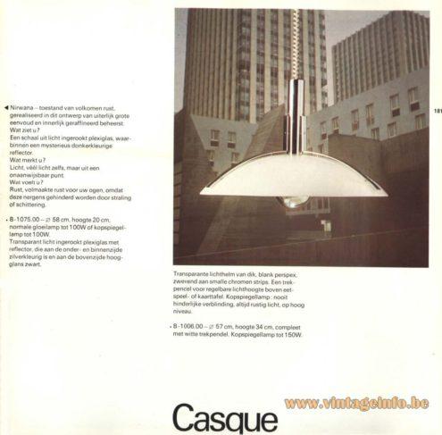 Raak Pendant Light 'Casque' B-1006