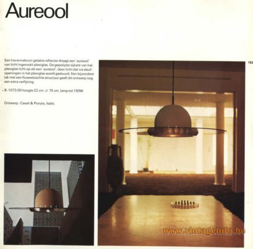 Raak Pendant Light 'Aureool' B-1073 , designed by Cesare Casati and Emanuele Ponzio