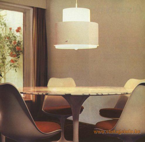 Raak Pendant Light 'Maggiore', design Sergio Asti, B-1022