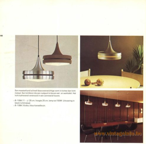 Raak Pendant Light B-1084.11, B-1084.16