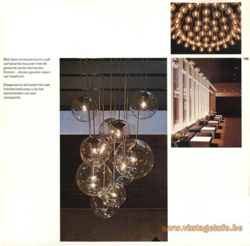 Raak Chandelier - Pendant Lights - Helder Natuurglas Met Handblaasdecor (Clear Nature Glass With Hand Blow Decor)
