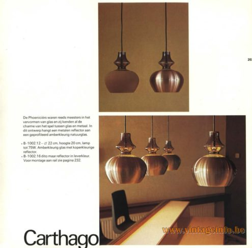 Raak Chandelier - Pendant Lights 'Carthago' B-1002.12, B-1002.16