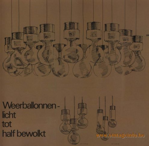 Raak Chandelier - Pendant Lights 'Weerballonnen - Licht Tot Half Bewolkt - (weather balloons - Slightly To Partially Cloudy)