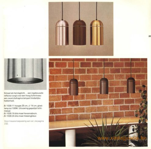 Raak Chandelier - Pendant Lights B-1039.11, B-1039.16, B-1039.24