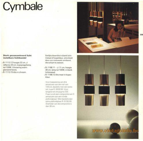 Raak Chandelier - Pendant Lights 'Cymbale' B-1113.12, B-1113.15, B-1198.11, B-1198.12