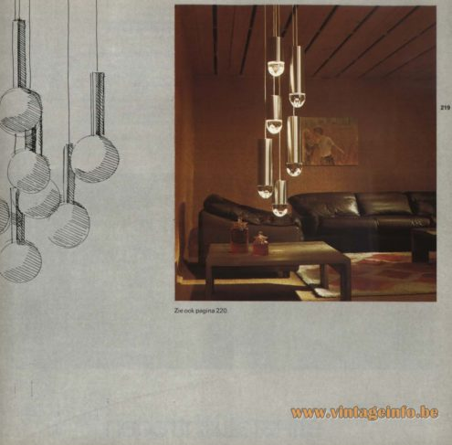 Raak Chandelier - Pendant Lights 'Lichtregen' - (light rain)