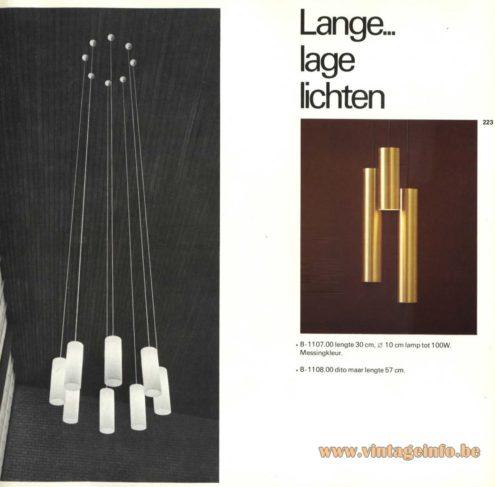 Raak Chandelier - Pendant Lights 'Lange... Lage Lichten' B-1107, B-1108 (Long... Low Lights)