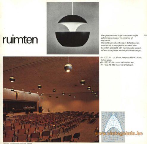 Raak Chandelier - Pendant Lights 'Voor Hoge Ruimten' (For High Spaces) B-1209.00, B-1023.11, B-1023.13, B-1023.16