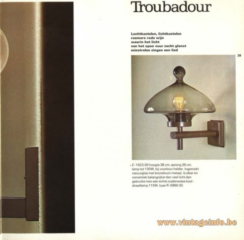 Raak 'Troubadour' Wall Light - C-1623