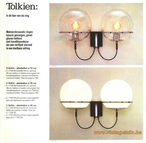 Raak 'Tolkien: In De Ban Van De Ring' Wall Light - C-1724, C-1725, C-1726, C1751