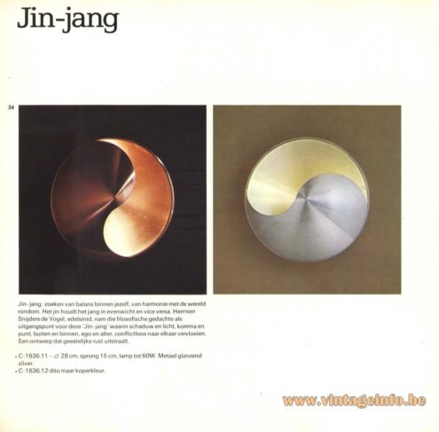Raak 'Jin-Jang' Wall Light - C-1636