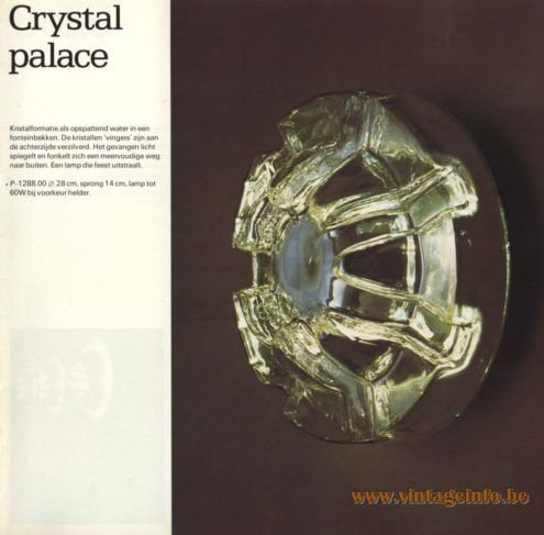 Raak 'Crystal Palace' Wall Light - P-1288