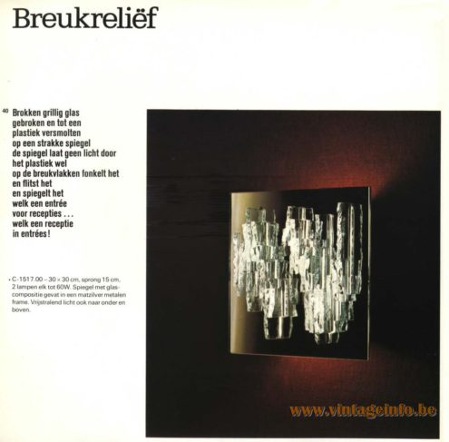 Raak 'Breukreliëf' Wall Light - C-1517