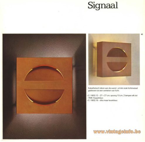 Raak 'Signaal' Wall Light - C-1603 (signal)
