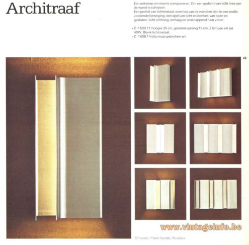 Raak 'Architraaf' Wall Light - C-1609 (architrave)