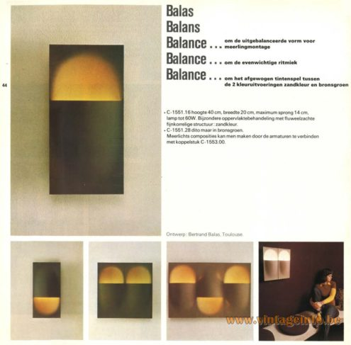 Raak 'Balas, Balans, Balance' Wall Light - C-1551