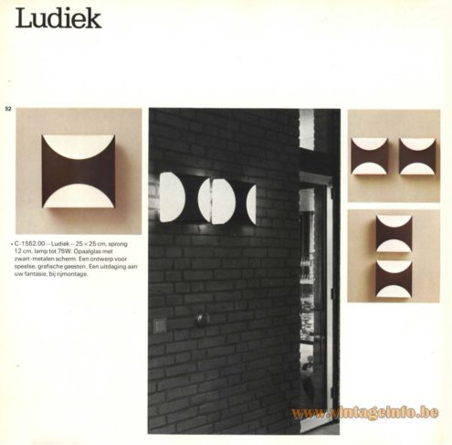 Raak 'Ludiek' Wall Light - C-1551 (Ludic)