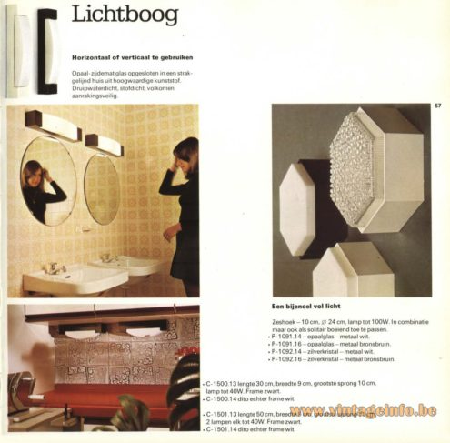 Raak 'Lichtboog' Wall Light or Ceiling Light - C-1500 - C-1501