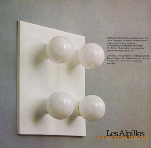 Raak 'Les Alpilles' Wall Light or Ceiling Light (Les Alpilles are a small mountain range in the French Provence)