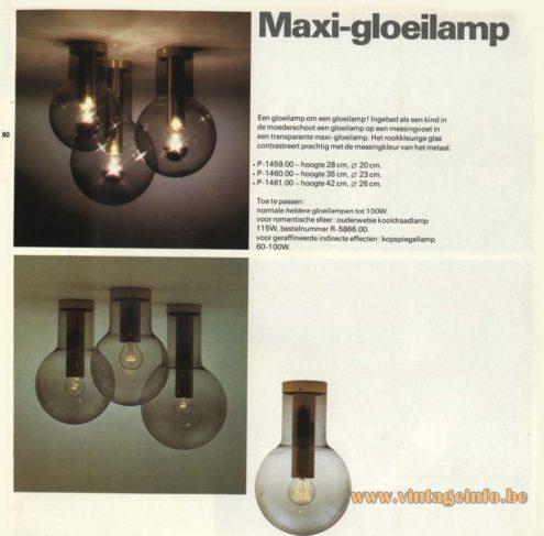 Raak 'Maxi gloeilamp' Flush Mount P-1459, P-1460, P-1461