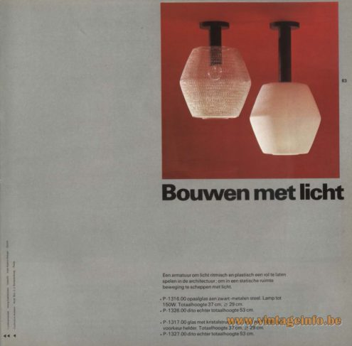 Raak 'Bouwen Met Licht' Flush Mount, P-1316, P-1326, P-1317, P-1327 (build with light)