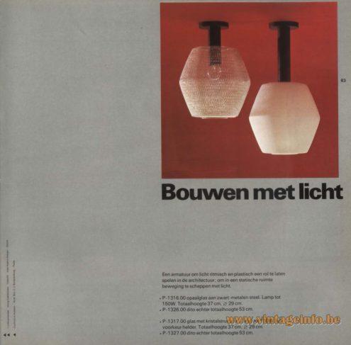 Raak 'Bouwen Met Licht' Flush Mount, P-1316, P-1326, P-1317, P-1327 (build with light)