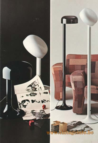 Stilnovo 1972 Carlo Viligiardi Floor & Table Lamp Studio