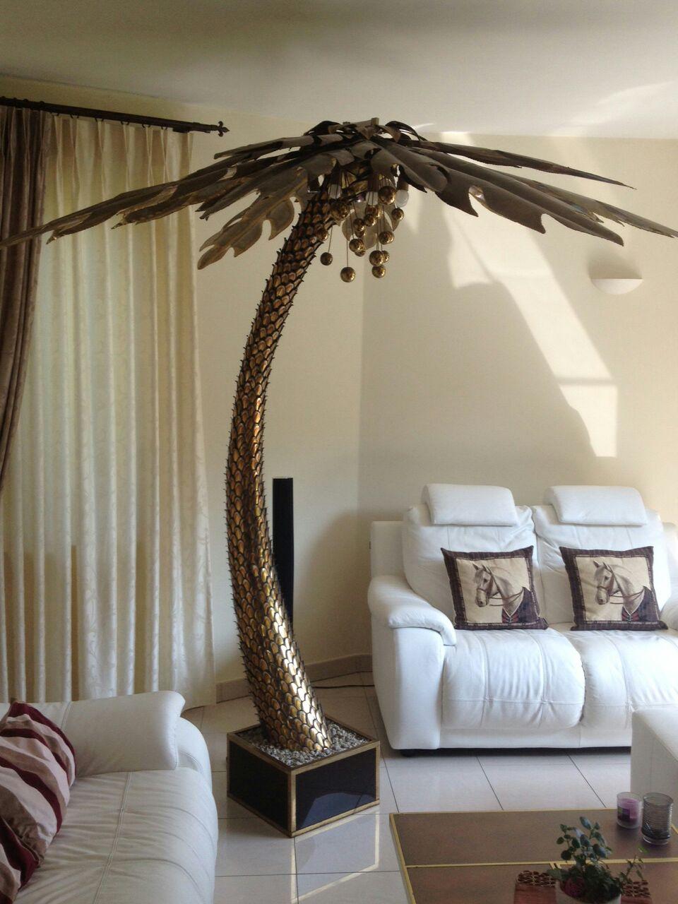 Maison Jansen Palm Tree Floor Lamp Vintage Info All