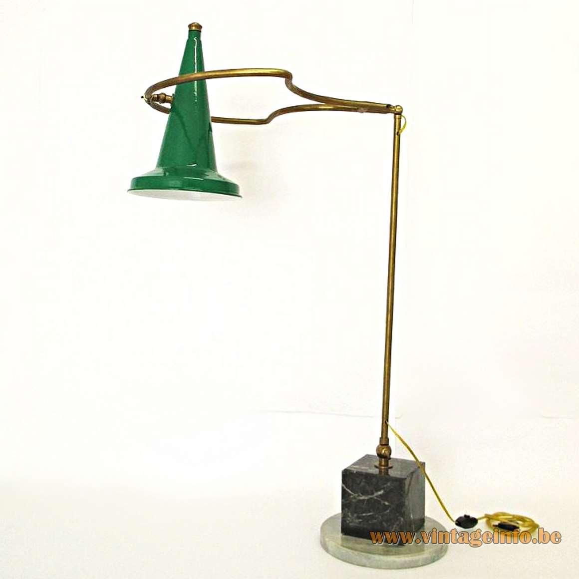 1950s Italian Parasol Table Lamp