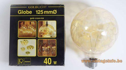 Paulmann gold-croco-ice light bulb, 220 volt - 40 watt