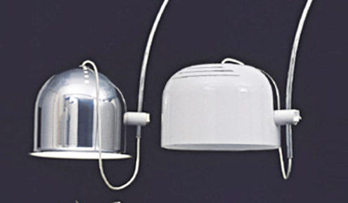 Harvey Guzzini Arc Floor Lamp - aluminium and white - catalogue