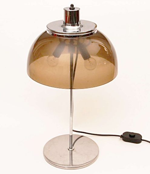 Harvey Guzzini Faro Table Lamp - transparent smoked plastic