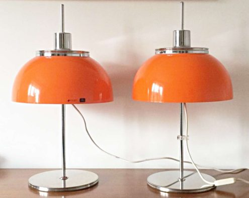Harvey Guzzini Faro Table Lamps - orange edition