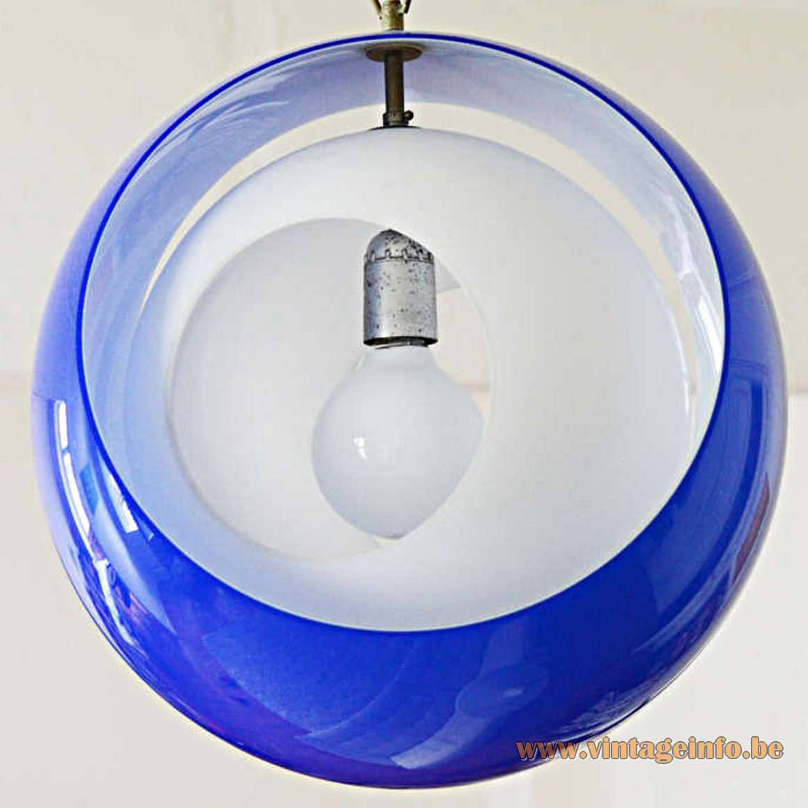 AV Mazzega Eclipse Pendant Lamp - blue and white