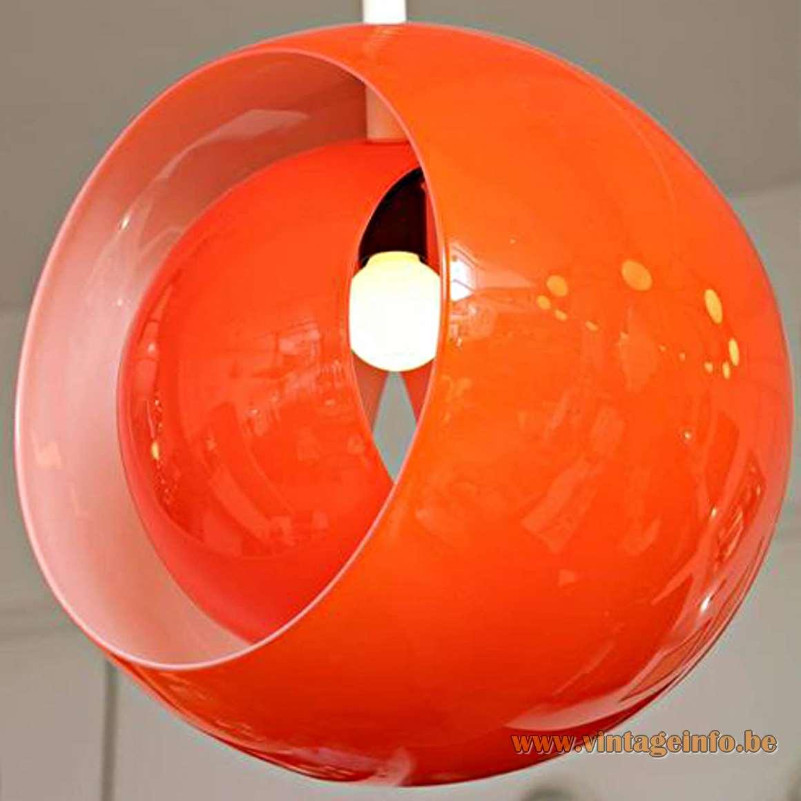 AV Mazzega Eclips Pendant Light - red or orange
