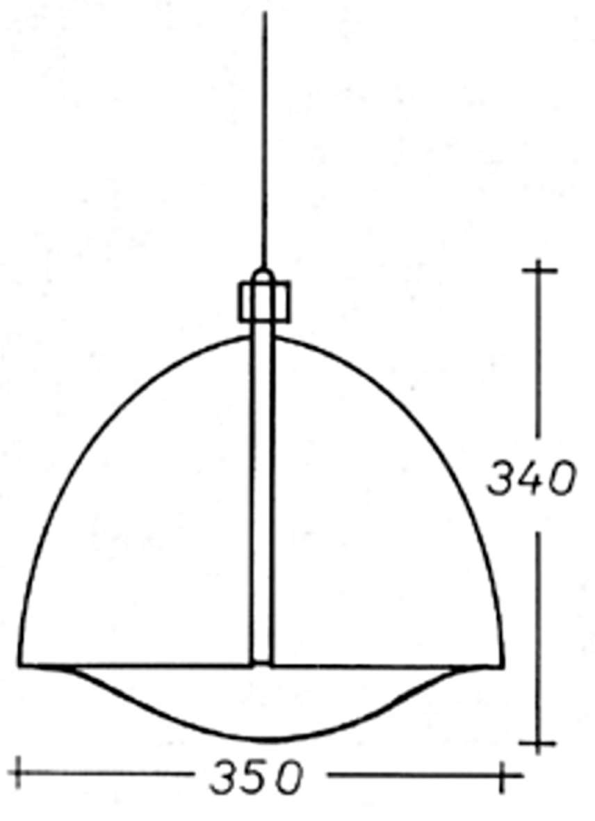 Harvey Guzzini Orione Pendant Light - scheme