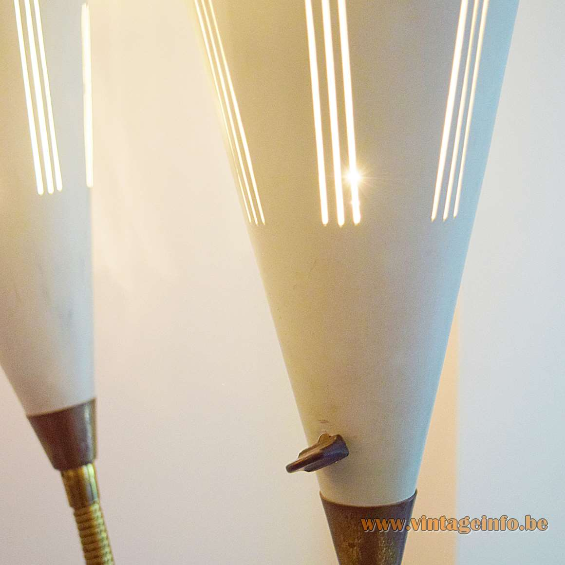1950s Trumpet Floor Lamp - Lampshades