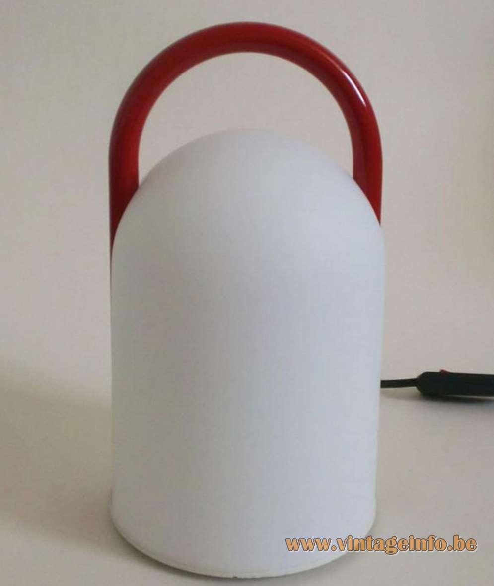 Romolo Lanciani - Tender Table Lamp - Tronconi Red Handle
