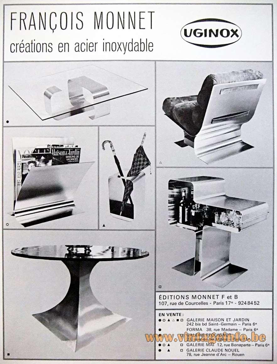 François Monnet - 1969 advertisement Uginox