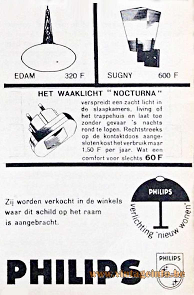 Philips 1963 Advertisement Edam - Belgium - Price 320 BEF, Belgium Francs, today 8 euro.