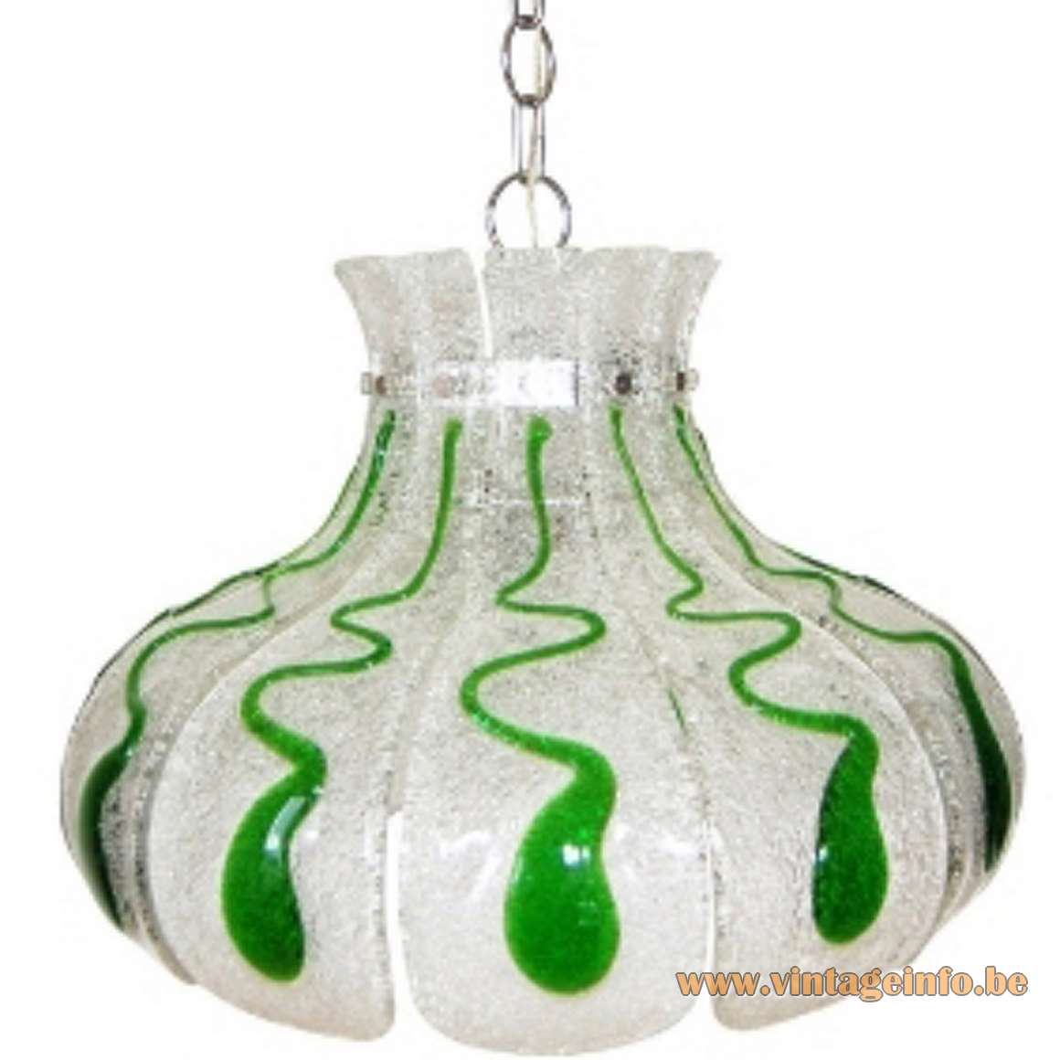 AV Mazzega Green Crystal Chandelier