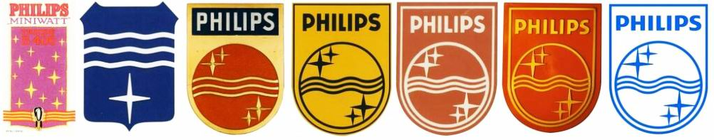 The Philips logos trough the years