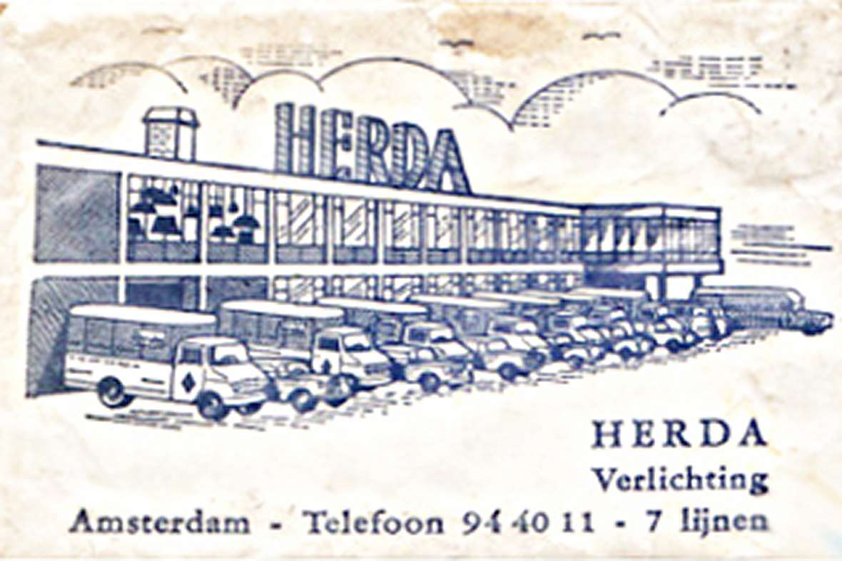 Herda Verlichting B.V., Amsterdam, The Netherlands. Tel: 94 40 11 - 7 lines.