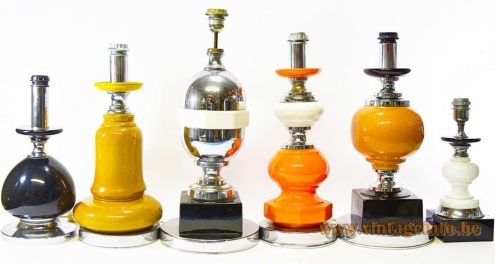 Ceramic Table Lamps made by Massive, Belgium