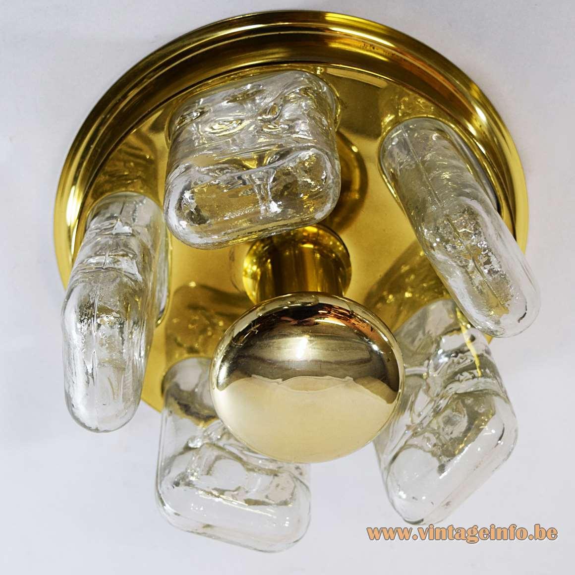 Doria Ice Glass Flush Mount