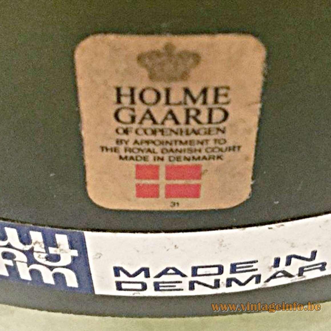 Fog & Morup Pompeï Olive Green Pendant Light - Holmegaard label & F&M label