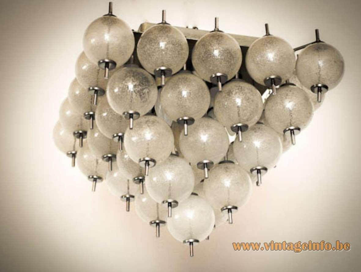 Raak Sterrenbeeld Ceiling Lamp flush mount hand blown clear glass balls