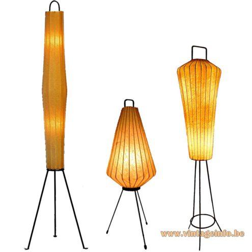 Artimeta Lugano Tripod Cocoon Floor Lamps