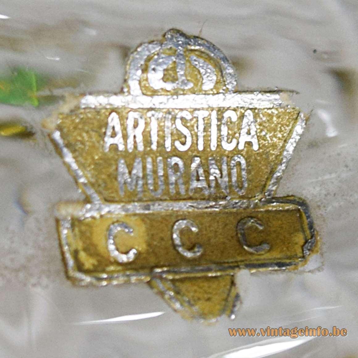 Artistica Murano CCC label